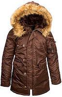 Женская зимняя куртка аляска Alpha Industries N-3B W Parka WJN44502C1 (Cocoa), фото 1