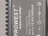Блок питания 12,0 V 1,0 A PROWEST + наружный, фото 3