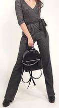 111-2 Натуральная кожа Городской рюкзак Кожаный рюкзак Из натуральной кожи Рюкзак женский серый рюкзак серый, фото 3