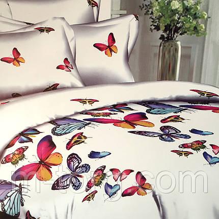 """""""Бабочки""""Постельное белье 3D эффект 180/220, нав-ки 70/70, фото 2"""