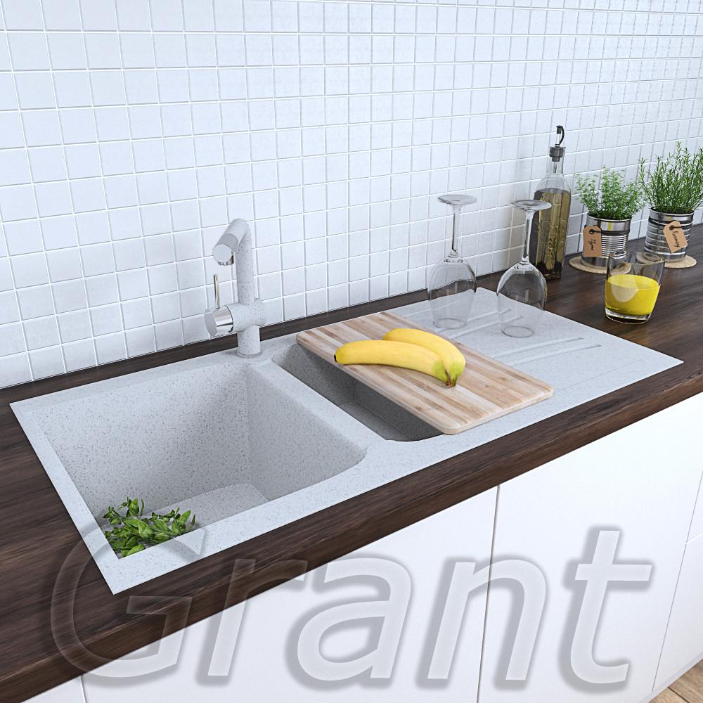Кухонная гранитная мойка полуторачашевая 990х500 Grant Gallant old stone