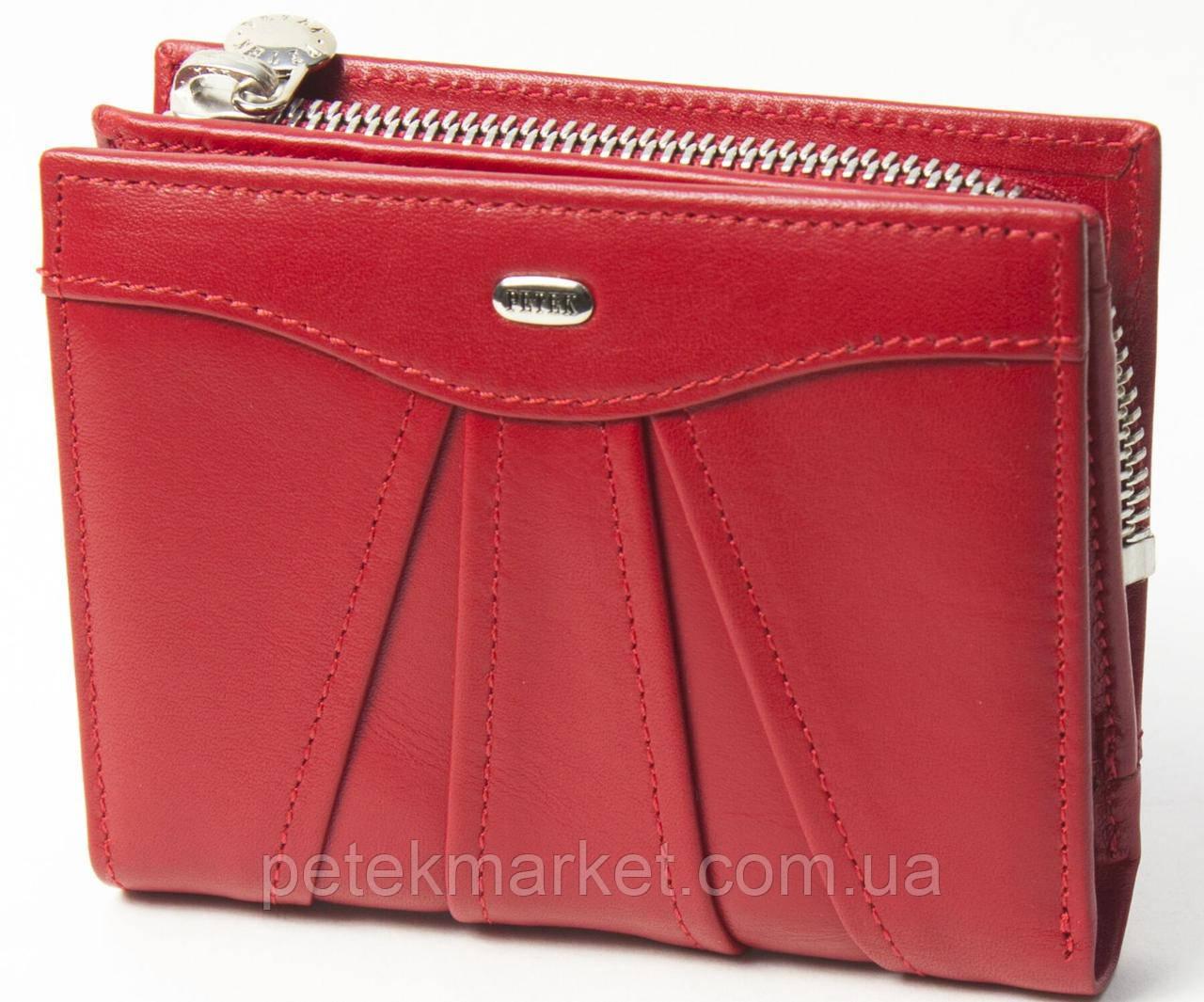 Женское портмоне Petek 428, Красный, 1, 5+, Вертикальное, Гладкая, Снаружи, Матовая, Стандартное