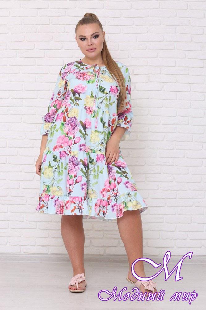 Стильное летнее платье для полных женщин (р. 42-90) арт. Амалия