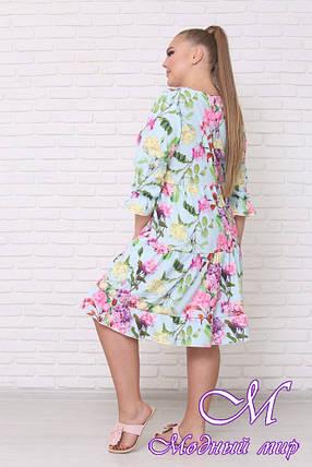 Стильное летнее платье для полных женщин (р. 42-90) арт. Амалия, фото 2