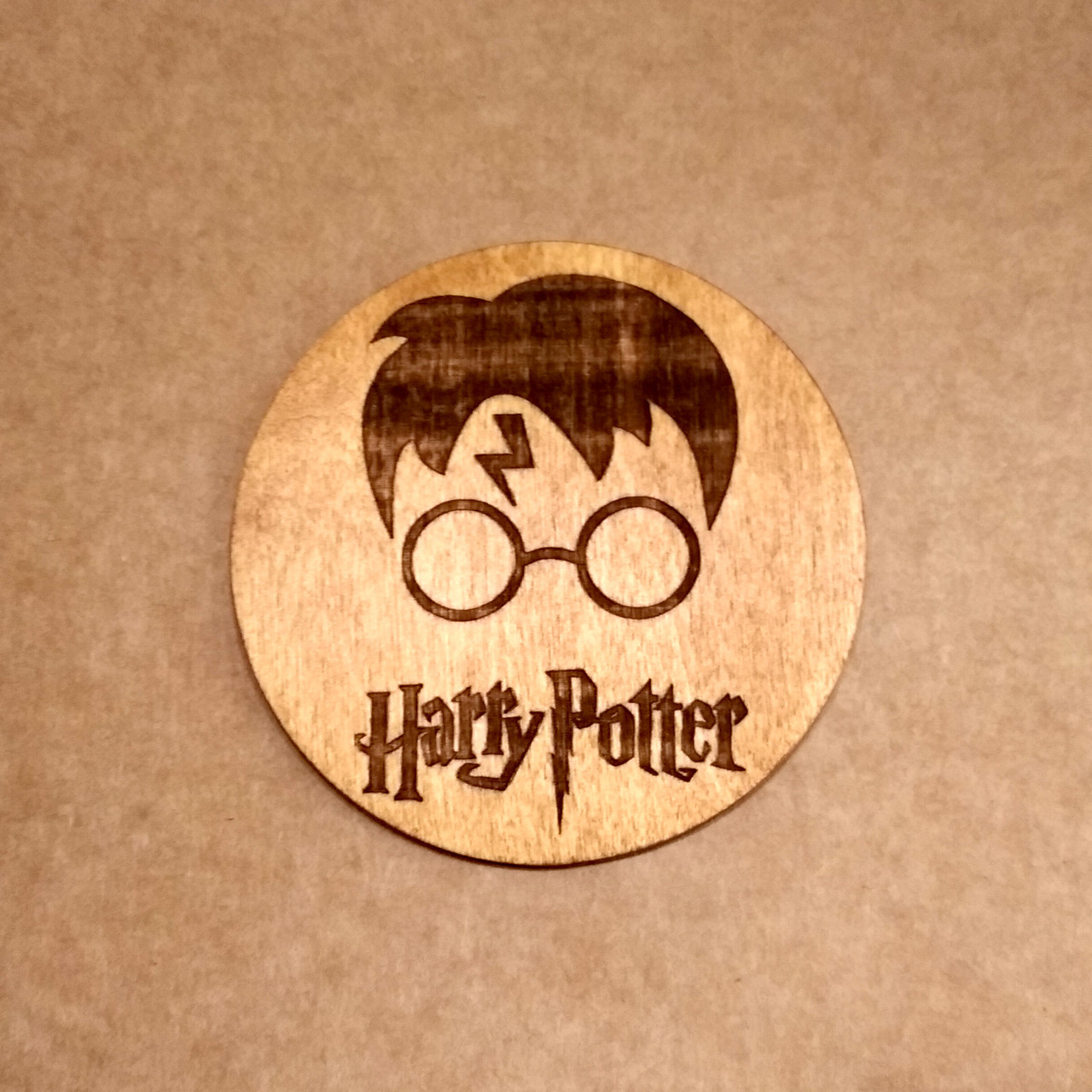Костер деревянный. Подставка под кружку Гарри Поттер.