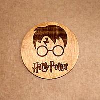 Подставка под кружку. Костер с лазерной гравировкой. Костер деревянный. Подставка под кружку Гарри Поттер.