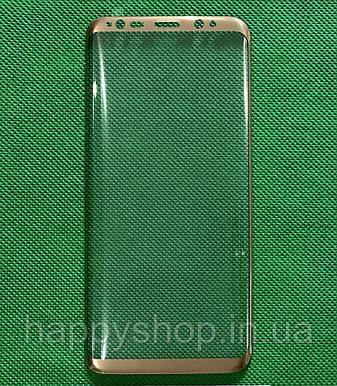 Защитное стекло Full screen для Samsung Galaxy S8 (G950) Золотистое, фото 2