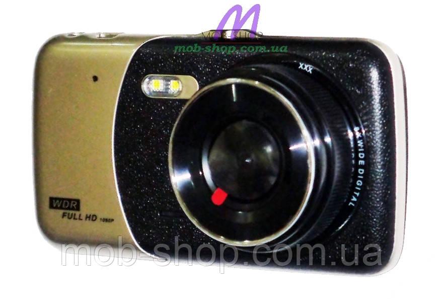 Автомобильный видеорегистратор DVR T652 Full HD с выносной камерой заднего вида