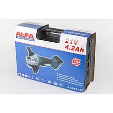 Кутова шліфувальна машина акумуляторна AL-FA ALCAG125 21V, фото 3