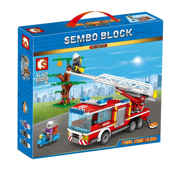 "Конструктор Sembo 603040 ""Пожарная команда"" (аналог Lego City), 330 дет"