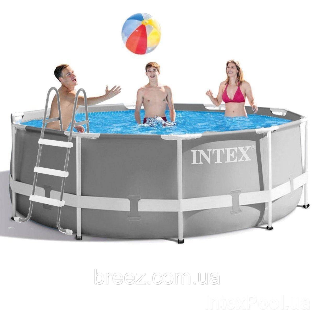 Каркасный бассейн Intex 26706-1 305 x 99 см лестница