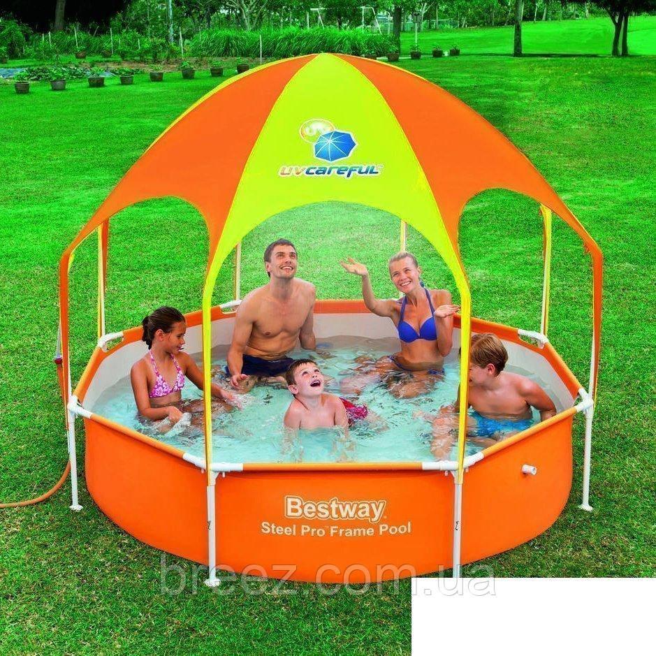 Каркасный бассейн Bestway 56432  244 x 51 см навес, душ