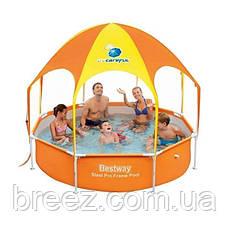 Каркасный бассейн Bestway 56432  244 x 51 см навес, душ, фото 2