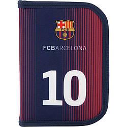 Пенал с наполнением Kite Education FC Barcelona BC19-622H 1 отделение 2 отворота Синий