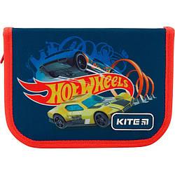 Пенал с наполнением Kite Education Hot Wheels HW19-622H-1 1 отделение 2 отворота Синий