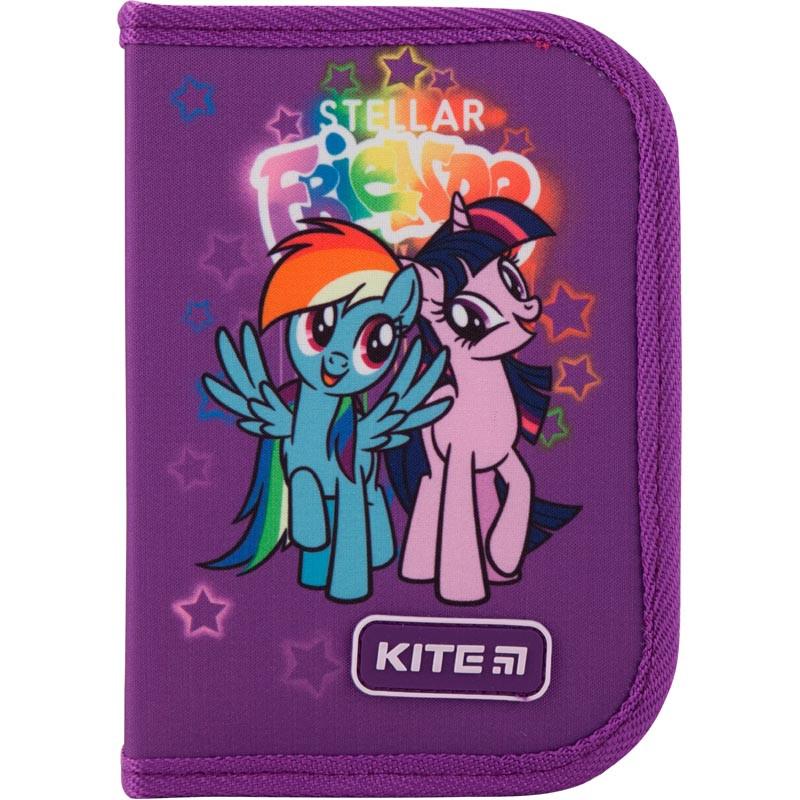 Пенал с наполнением Kite Education My Little Pony 1 отделение 2 отворота LP19-622H-1 Фиолетовый