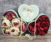 Сердца подарочные коробки (набор из 3 шт)