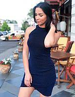 Платье с драпировкой электрик, графит, фото 1