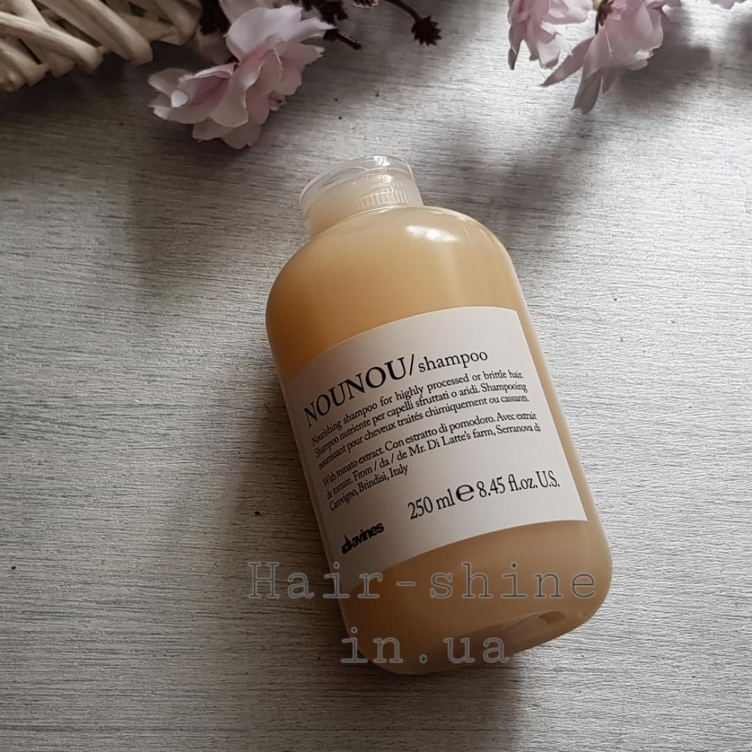 Питательный шампунь для уплотнения волос 250 мл Davines Essential Haircare New NouNou Shampoo