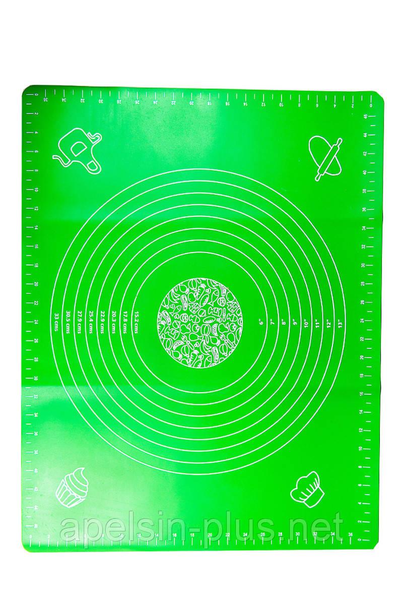 Силиконовый коврик для раскатки теста и выпечки 40 см 50 см ОПТ