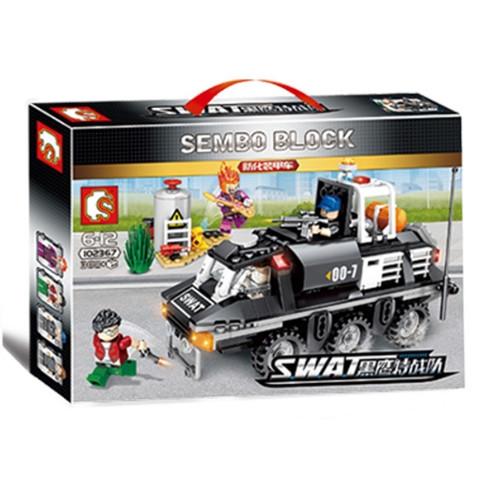 """Конструктор Sembo 102367 """"Бронетранспортер"""" (реплика Lego City), 368 дет"""