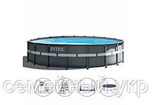 Каркасный бассейн Диаметр: 610 см высота: 122 см. Объем 30079 л. Фильтр.  Intex 26334, фото 2