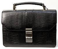Барсетка Petek 750, Черный, Рептилия, Матовая, фото 1