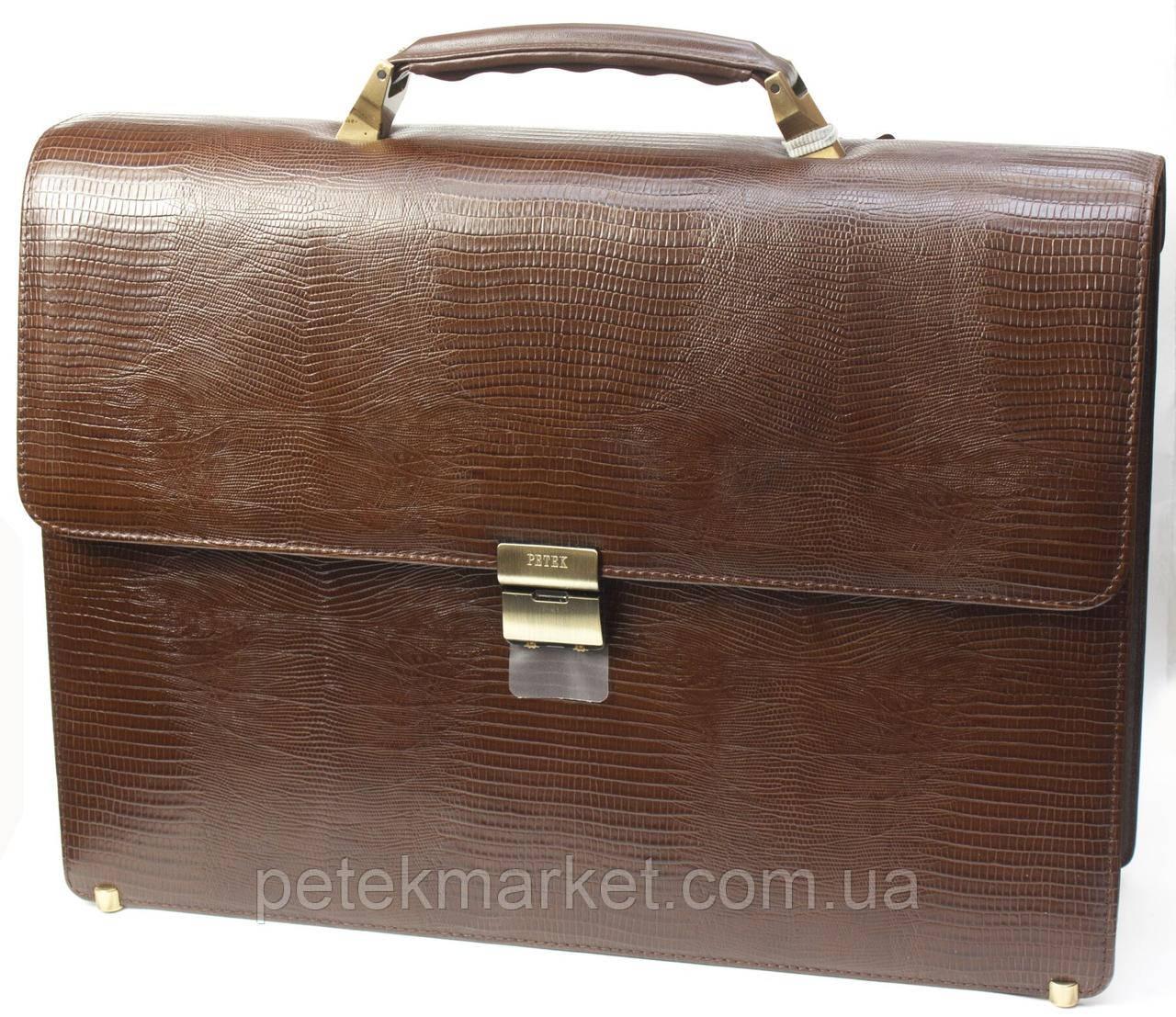 Кожаный портфель Petek 824