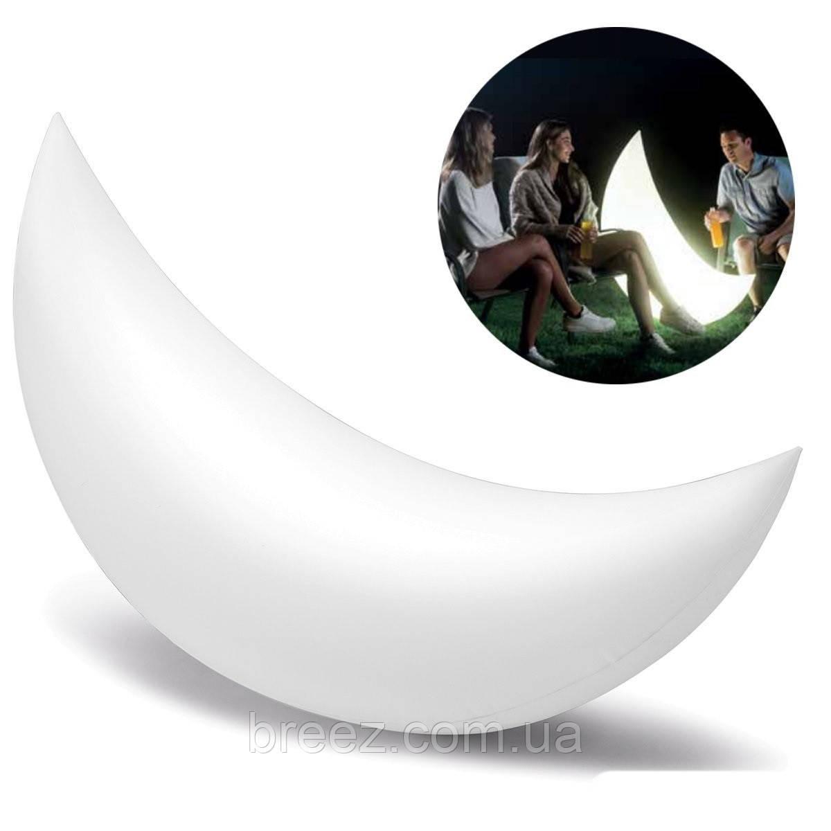 Светодиодная декоративная подсветка, фонарь Intex Полумесяц надувной, плавающий