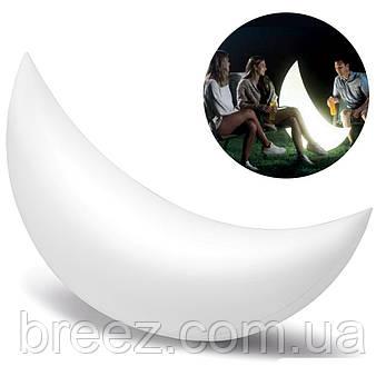 Светодиодная декоративная подсветка, фонарь Intex Полумесяц надувной, плавающий, фото 2