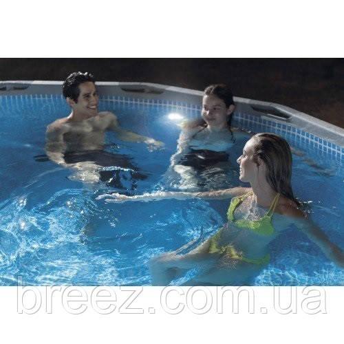 Подсветка для бассейна Intex гидроэлектрическая. Работает от фильтр-насоса с плунжерными кранами 38мм