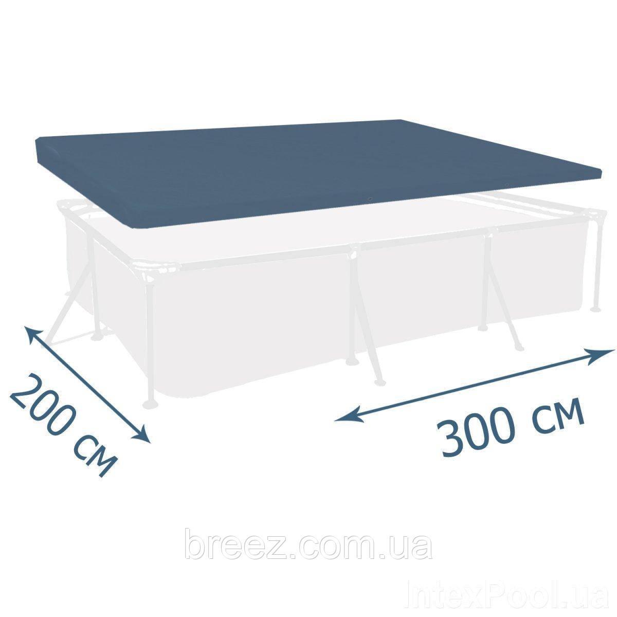 Тент чехол для каркасного бассейна Intex 28038 300 х 200 см