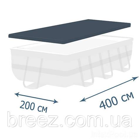 Тент чехол для каркасного бассейна Intex 28037 400 х 200 см , фото 2