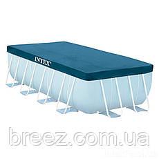 Тент чехол для каркасного бассейна Intex 28037 400 х 200 см , фото 3