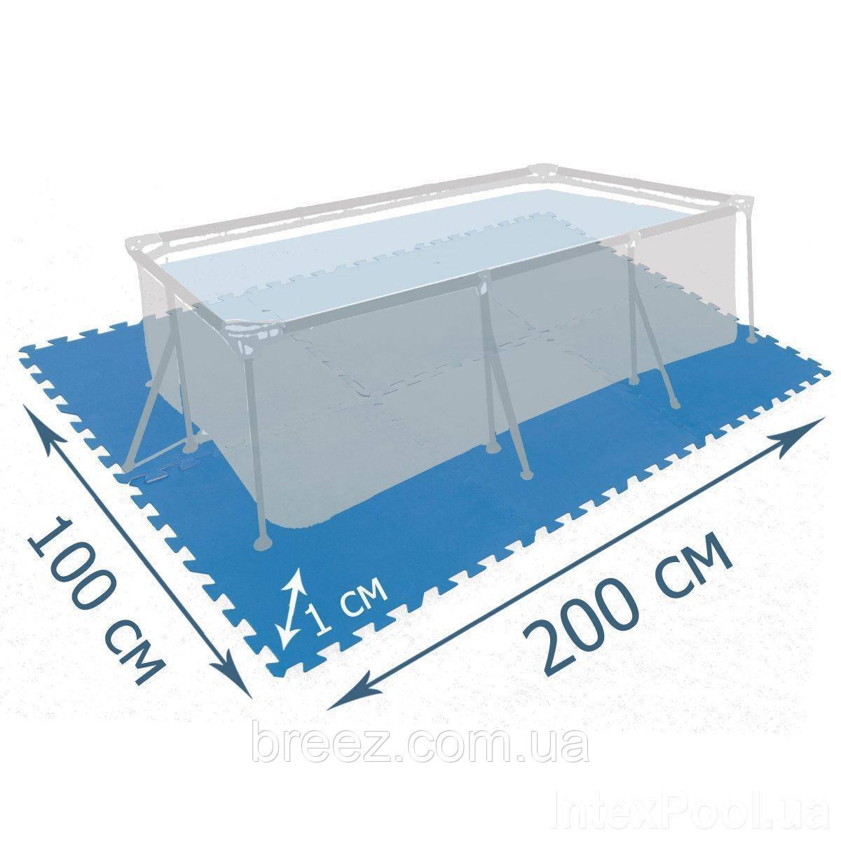 Мат подложка для бассейна Intex 29081 200 х 100 см набор 8 шт 50 x 50 см