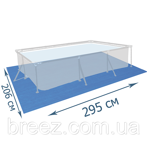 Подстилка для бассейна Bestway 58100 295 х 206 см,прямоугольная , фото 2
