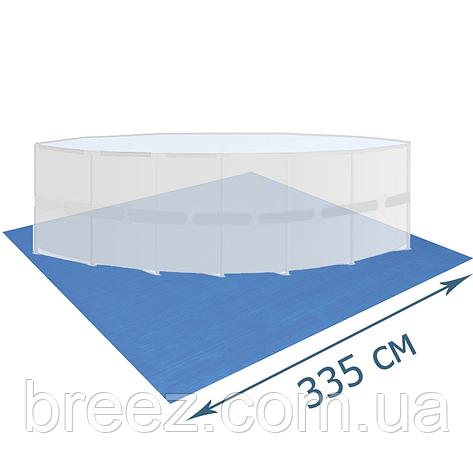 Подстилка для бассейна Bestway 58001 335 х 335 см квадратная, фото 2
