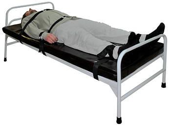 Кровать для психонервнобольных с ремнями медицинская