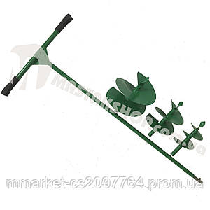 Бур садовый ШНЕК 120/170/220 мм (3 насадки в комплекте)