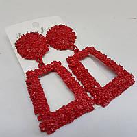 Сережки жіночі в стилі Zara червоні, фото 1