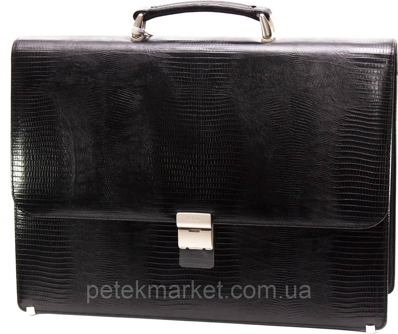 Кожаный портфель Petek 875