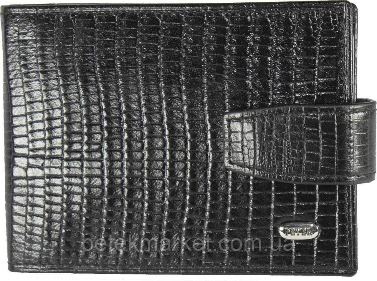Кредитница Petek 1014, Черный, Рептилия, Матовая