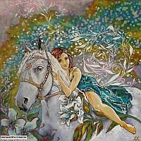Картина батик Лошадь
