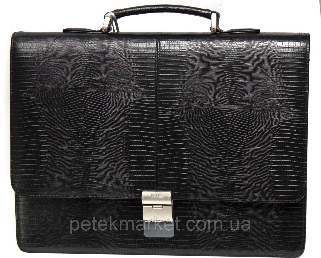 Кожаный портфель Petek 777