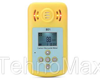 Детектор угарного газа KXL 801 ( CO: 0 - 2000PPM ) с звуковым, световым и вибросигналом, термометром