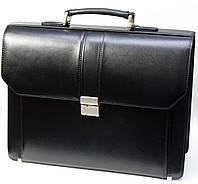 Портфель мужской Petek 862, Черный, Рептилия, Матовая, фото 1