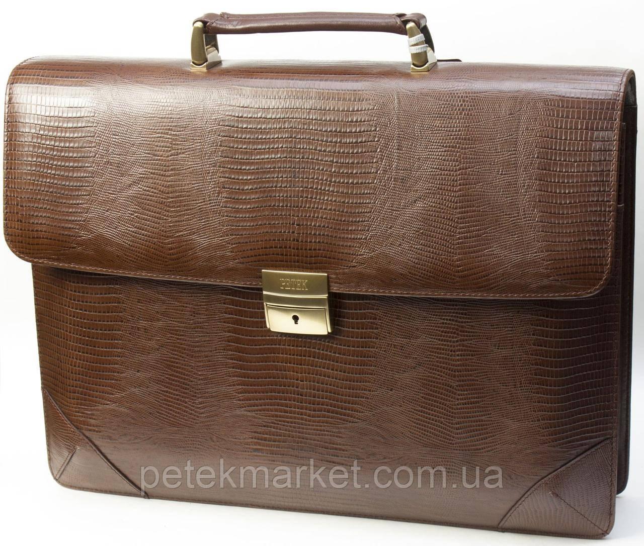 Кожаный портфель Petek 892/2