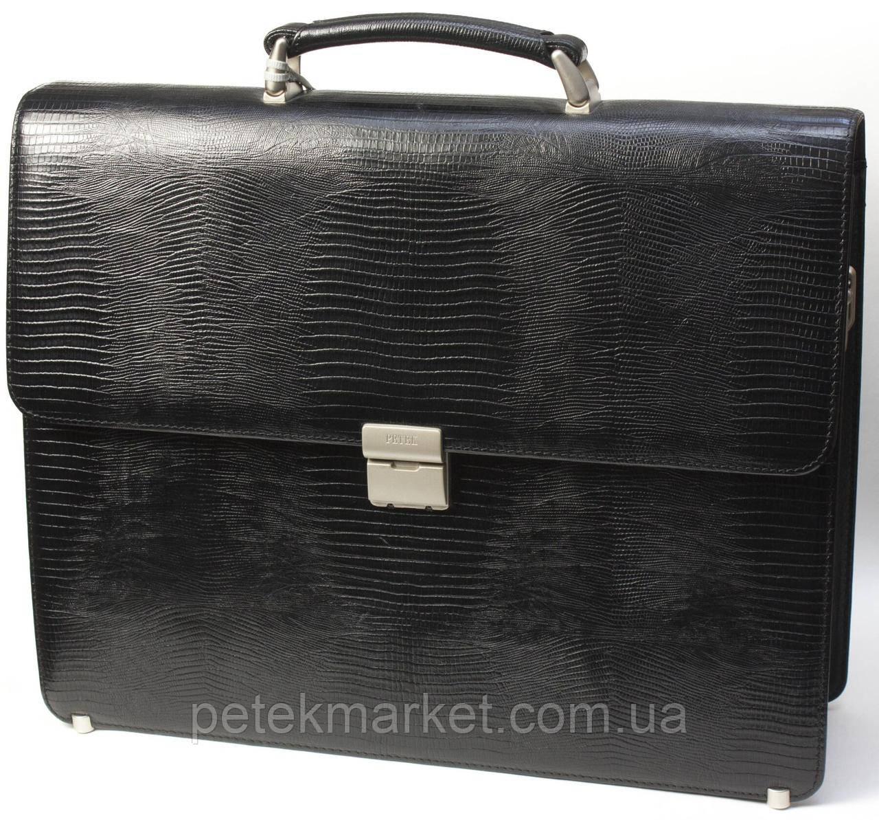 Кожаный портфель Petek 7501