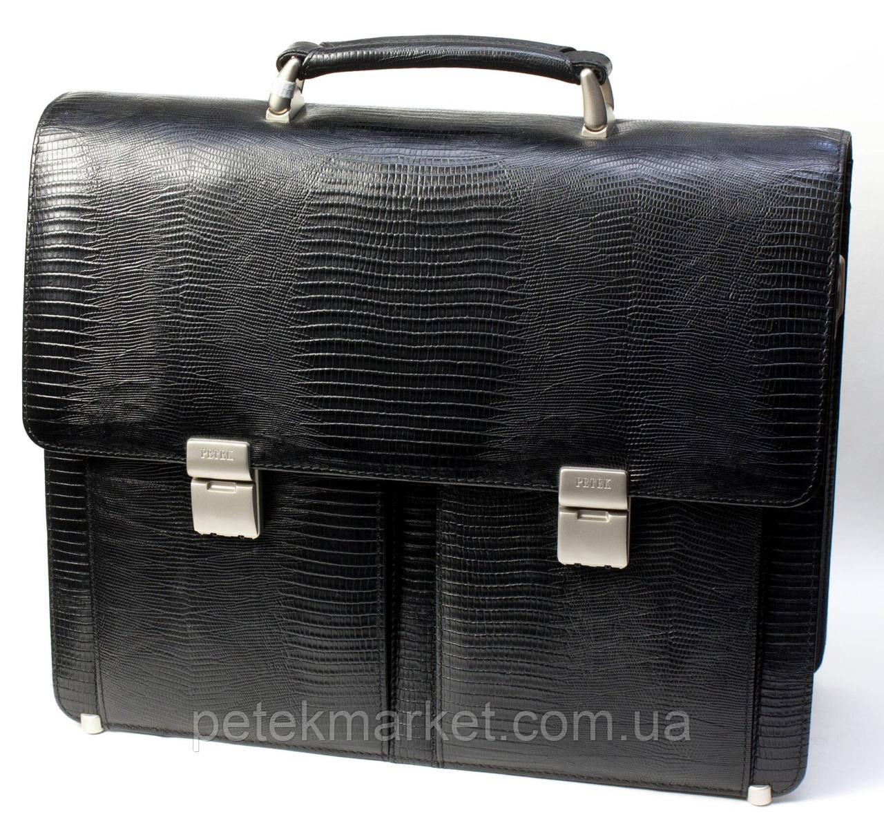 Кожаный портфель Petek 7510