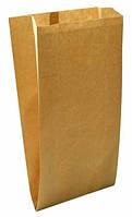 """Пакеты бумажные 100х50х210 тип """"саше"""" с V-образным дном для фаст-фуда (коричневый,40гр\м2)."""
